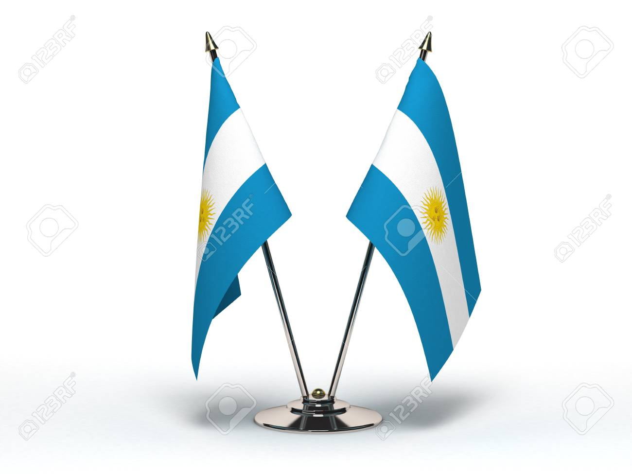 Miniature Flag of Argentina (Isolated with clipping path) - 12218307