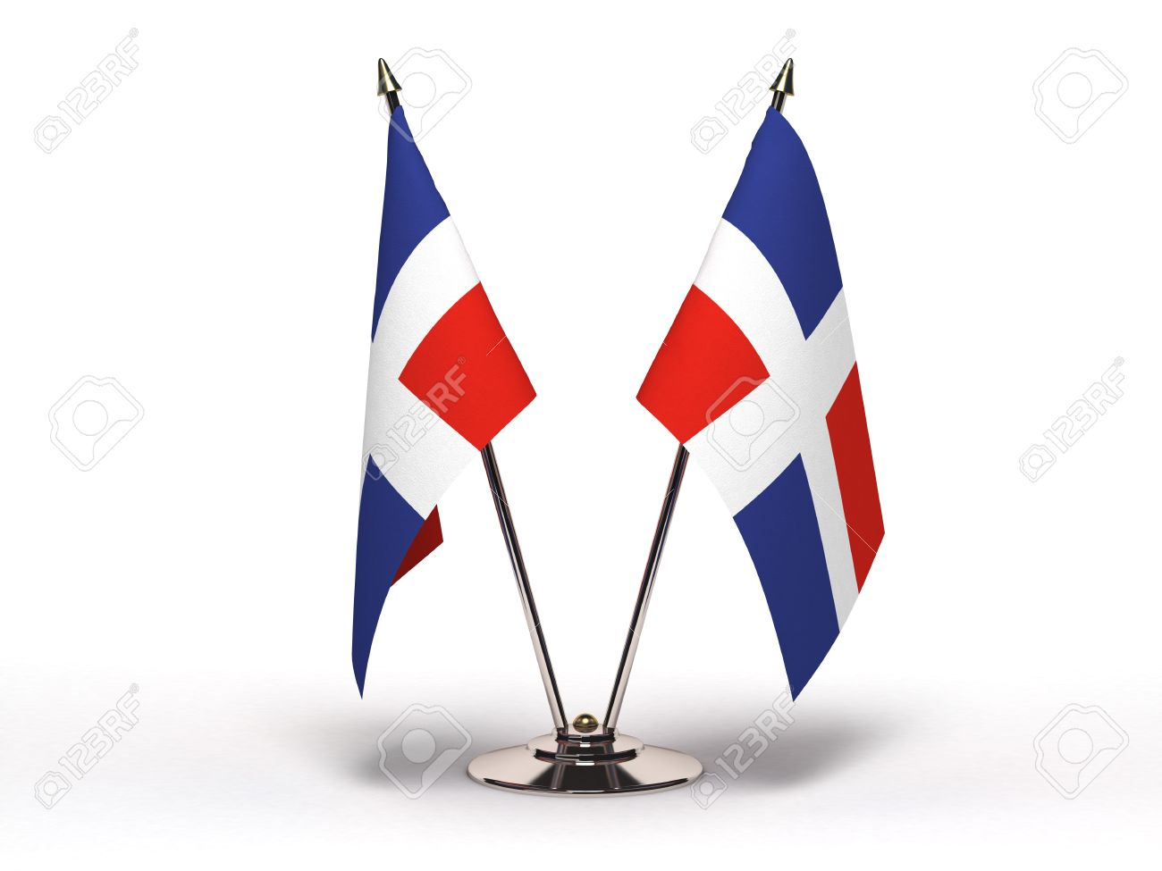 Miniature Flag of Dominican Republic Isolated with clipping path - 12659223