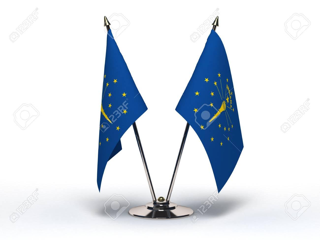 Miniature Flag of Indiana Isolated Stock Photo - 16076199
