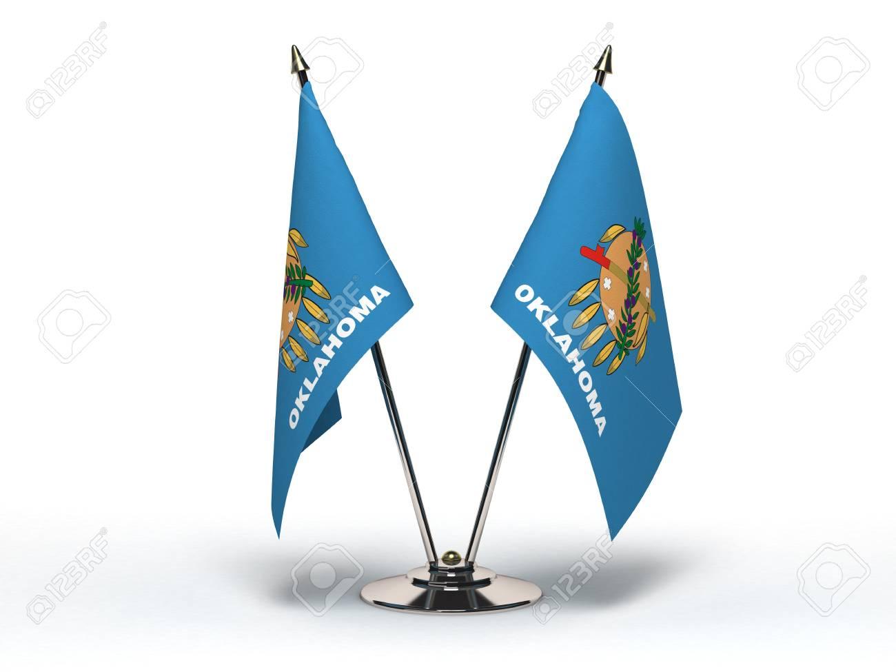 Miniature Flag of Oklahoma Isolated Stock Photo - 16076528