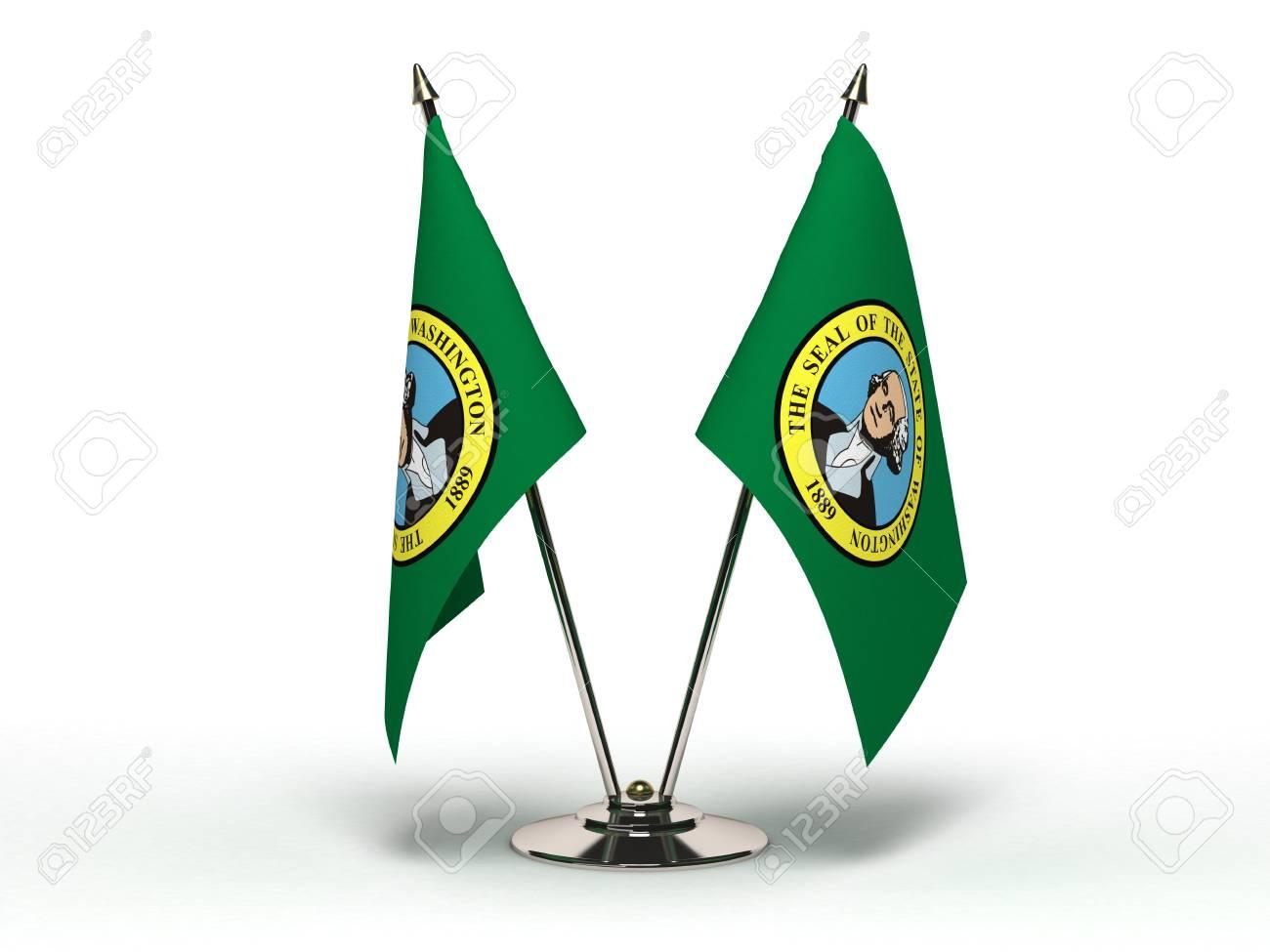 Miniature Flag of Washington Isolated Stock Photo - 16076401