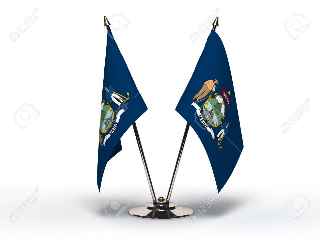 Miniature Flag of Maine Stock Photo - 16564470