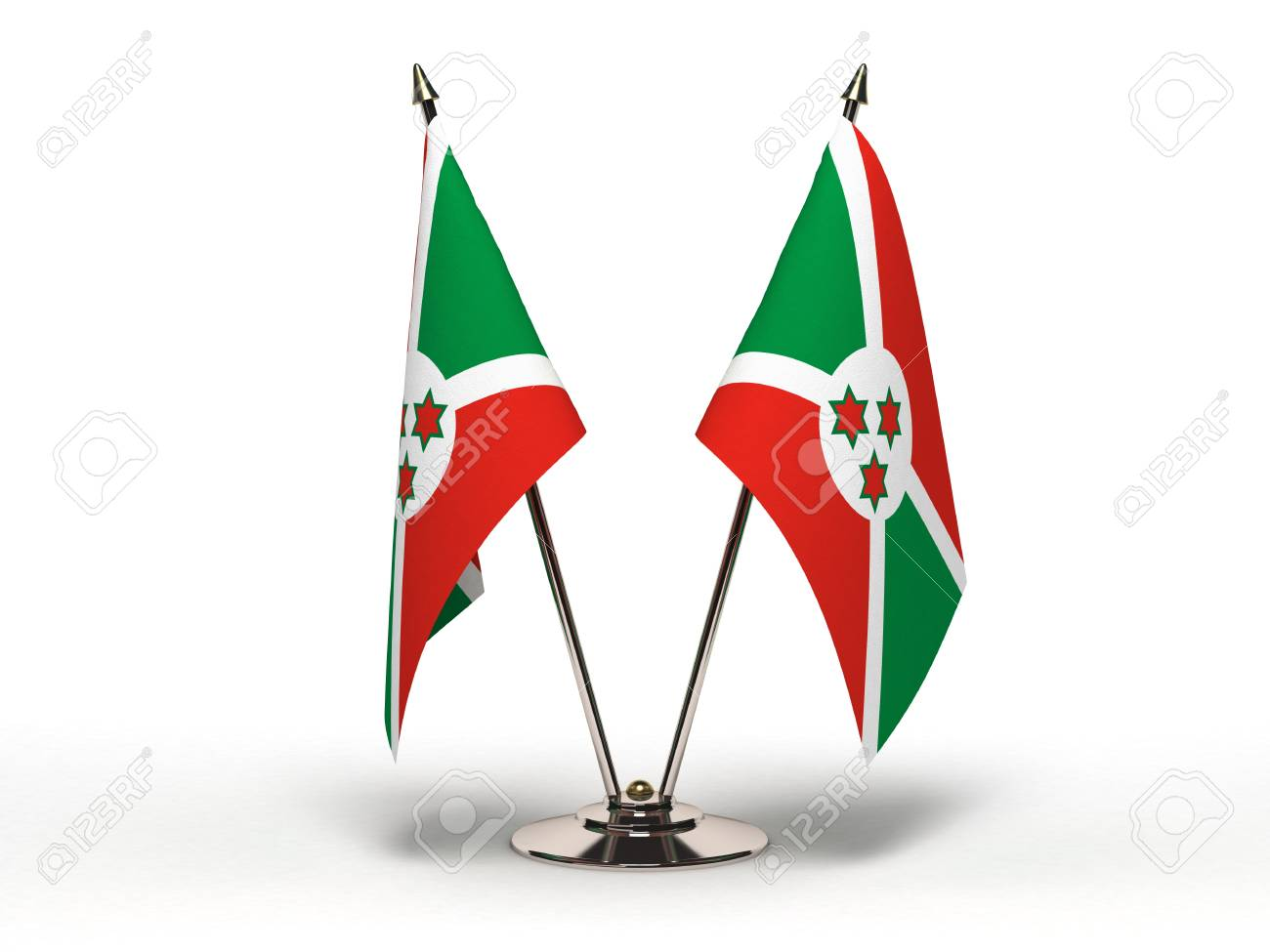 Miniature Flag of Burundi  Isolated with clipping path Stock Photo - 16804203