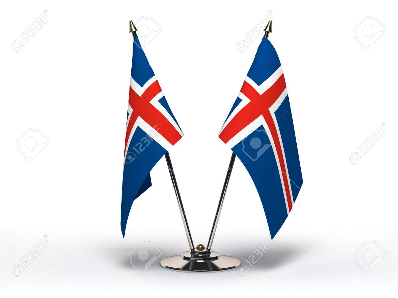 Miniature Flag of Iceland  Isolated with clipping path Stock Photo - 16804200