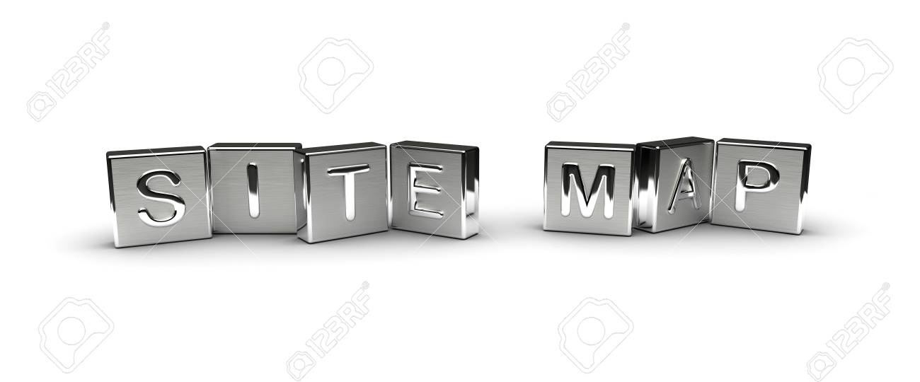 Metal Site Map Text isolated on white background - 40281654