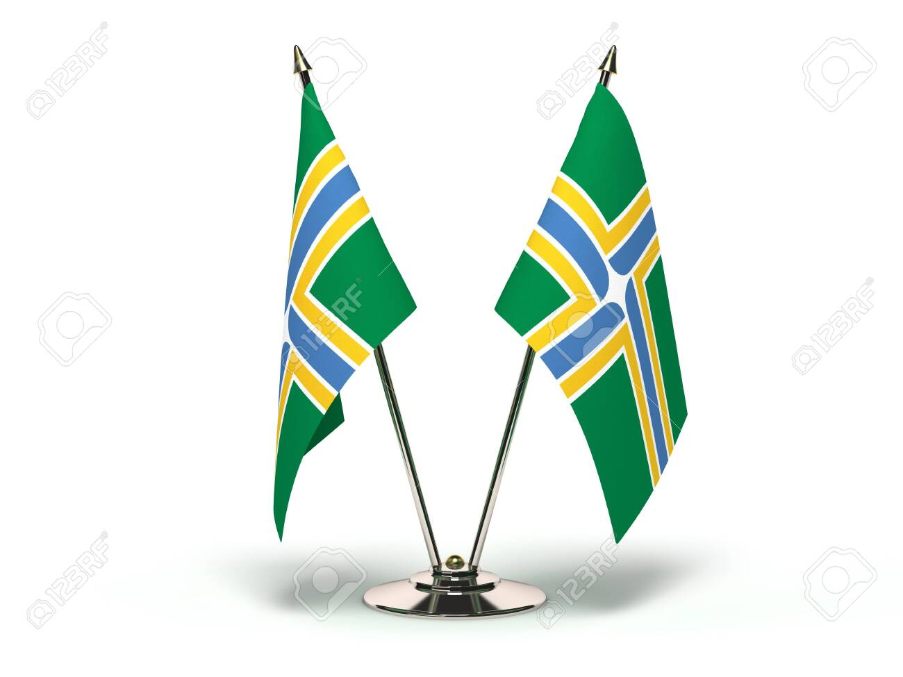 Oregon Portland Flag (Flags Isolated with clipping path) - 121132456