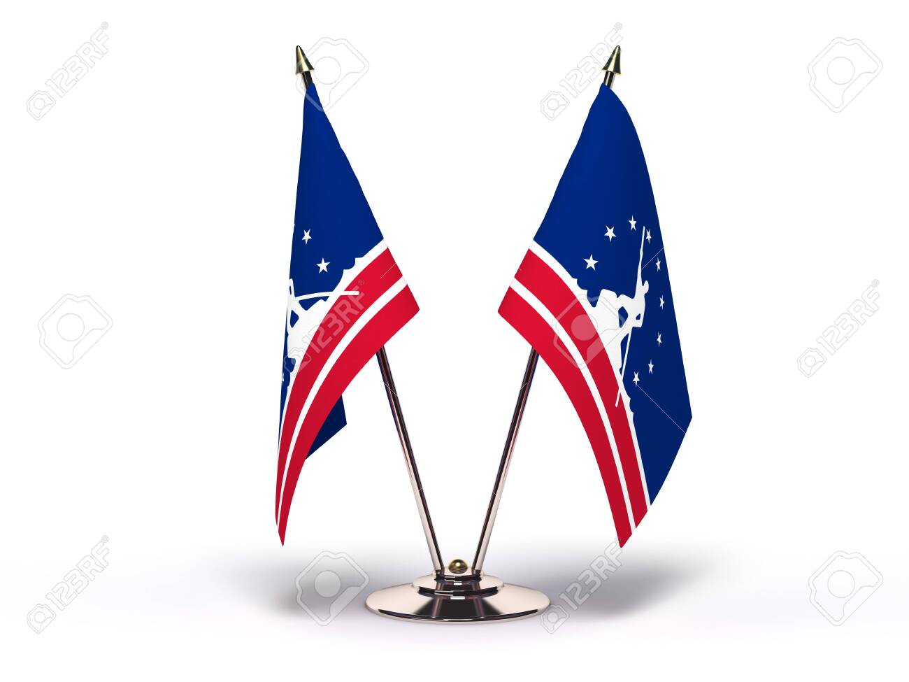 Virginia Richmond Flag (Flags Isolated with clipping path) - 121132460
