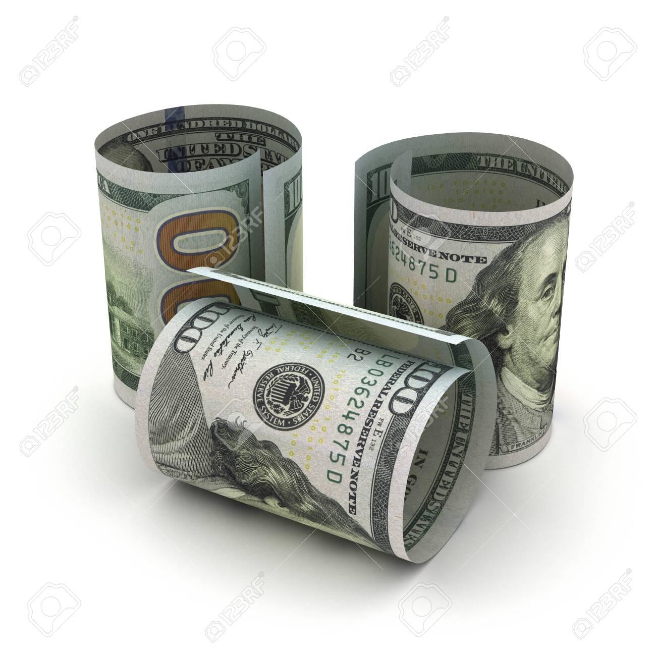 US Dollar in rolls - 142619523