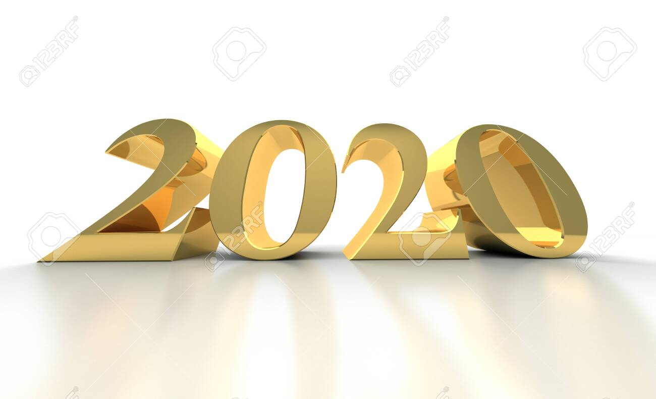 New Year 2020 on White Bacground - 142619527