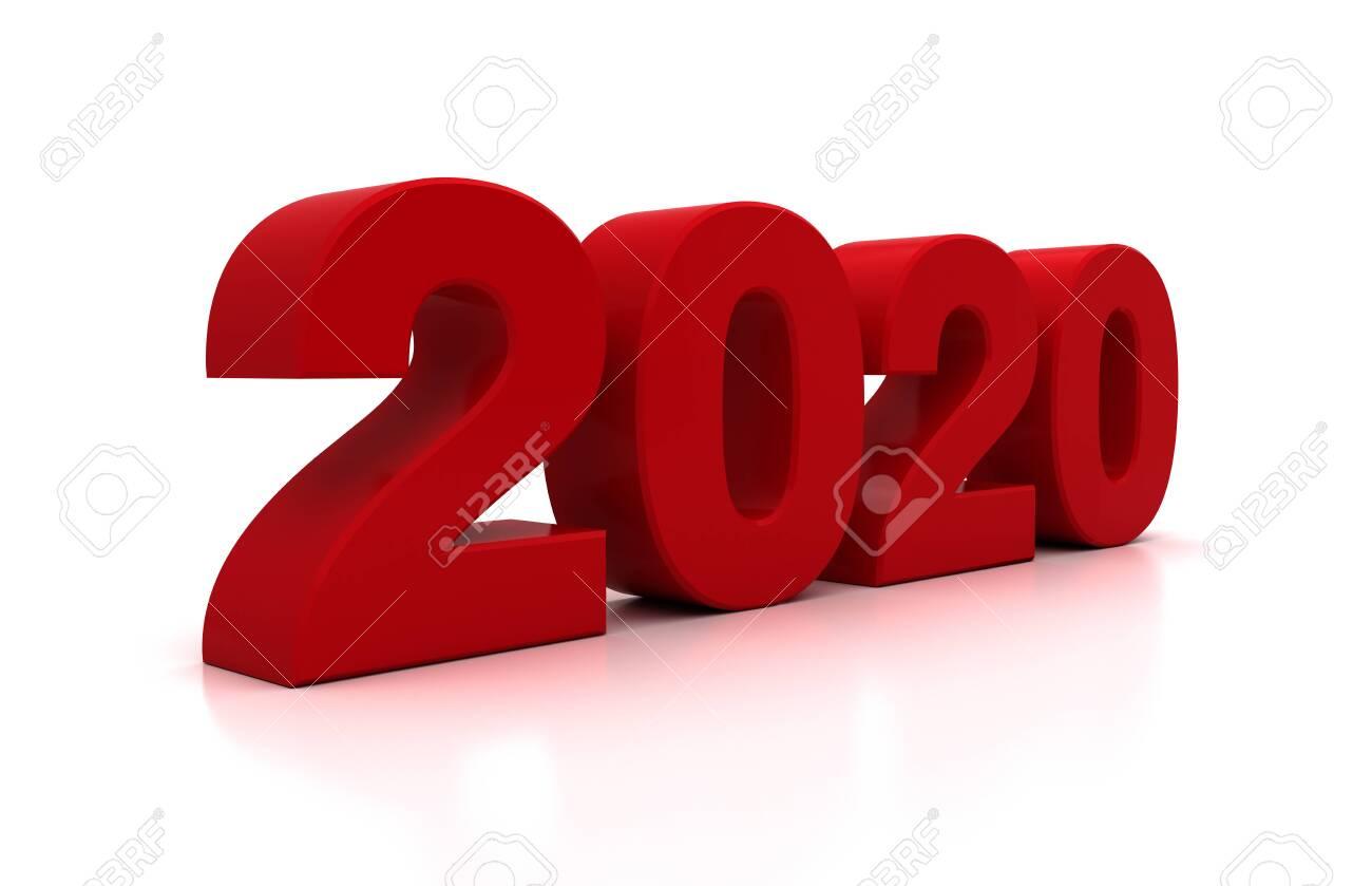 New Year 2020 on White Bacground - 142619539