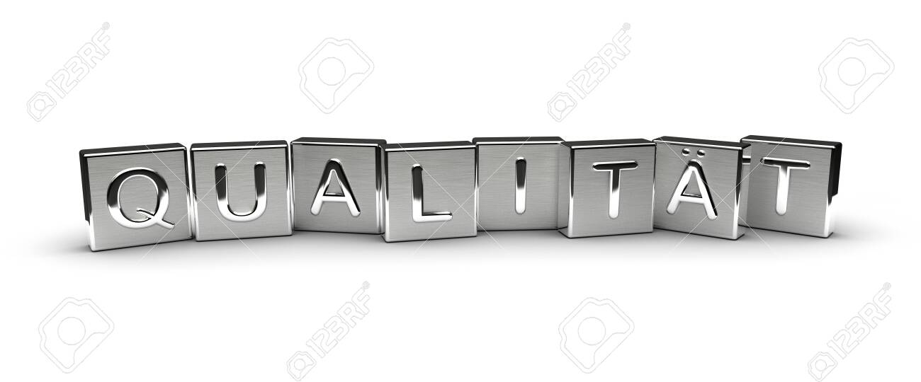 Metal Qualität Text (isolated on white background) - 146281539