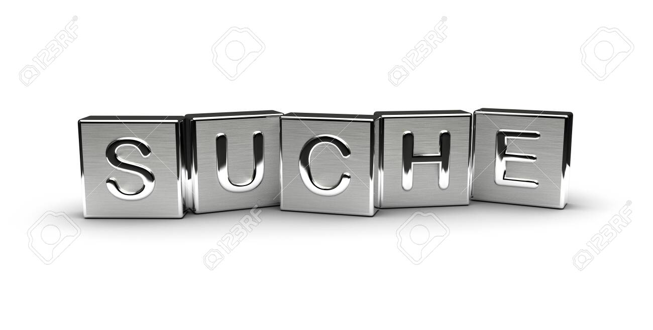 Metal Suche Text (isolated on white background) - 146281773