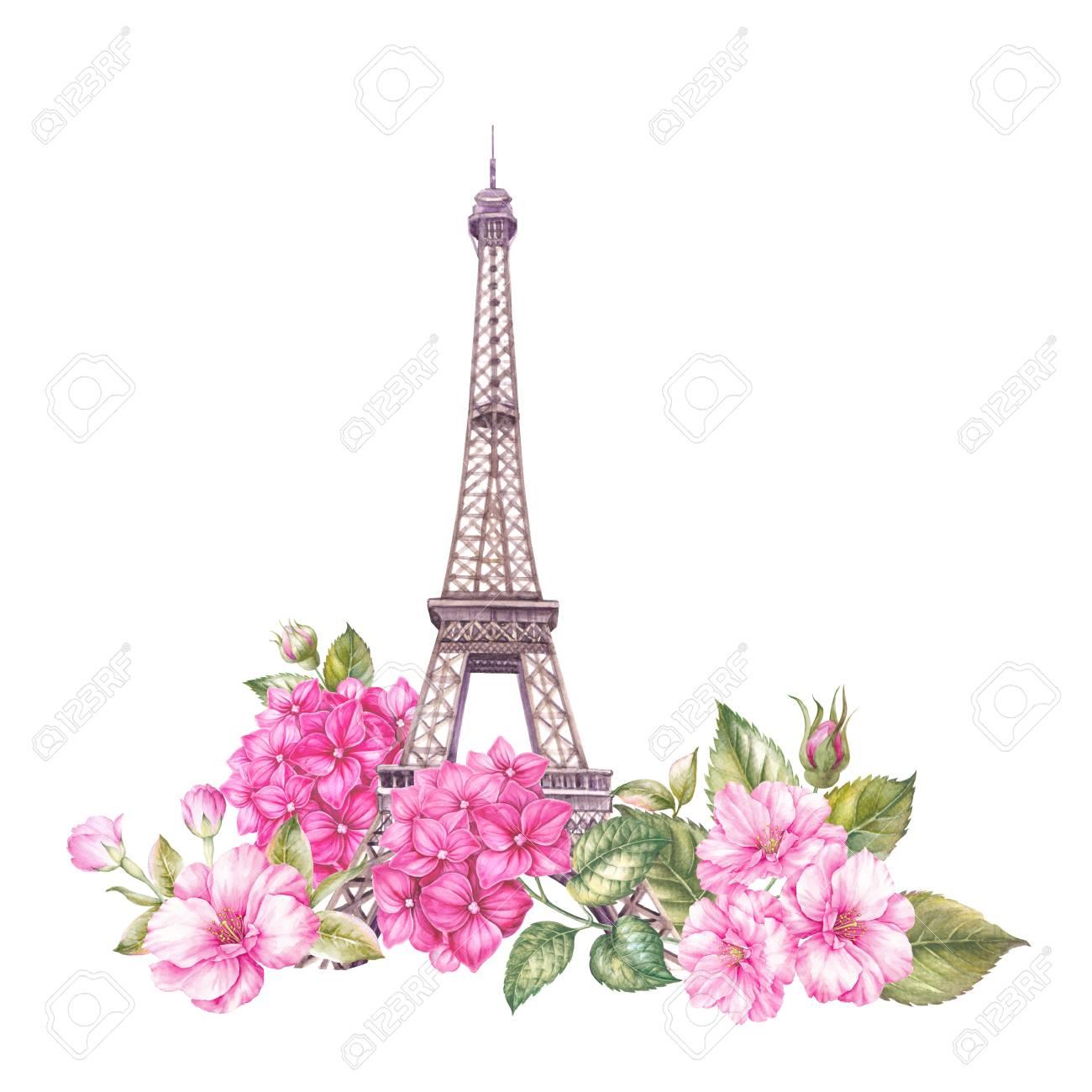 Illustration De Paris Ete Aquarelle Botanique Illustration D Une