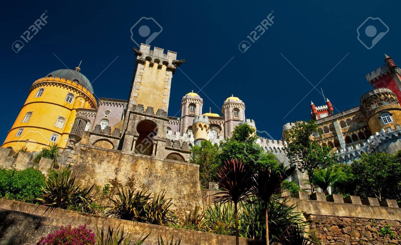 Detail of the famous Palace of Sintra, Portugal  Stock Photo - 15854769
