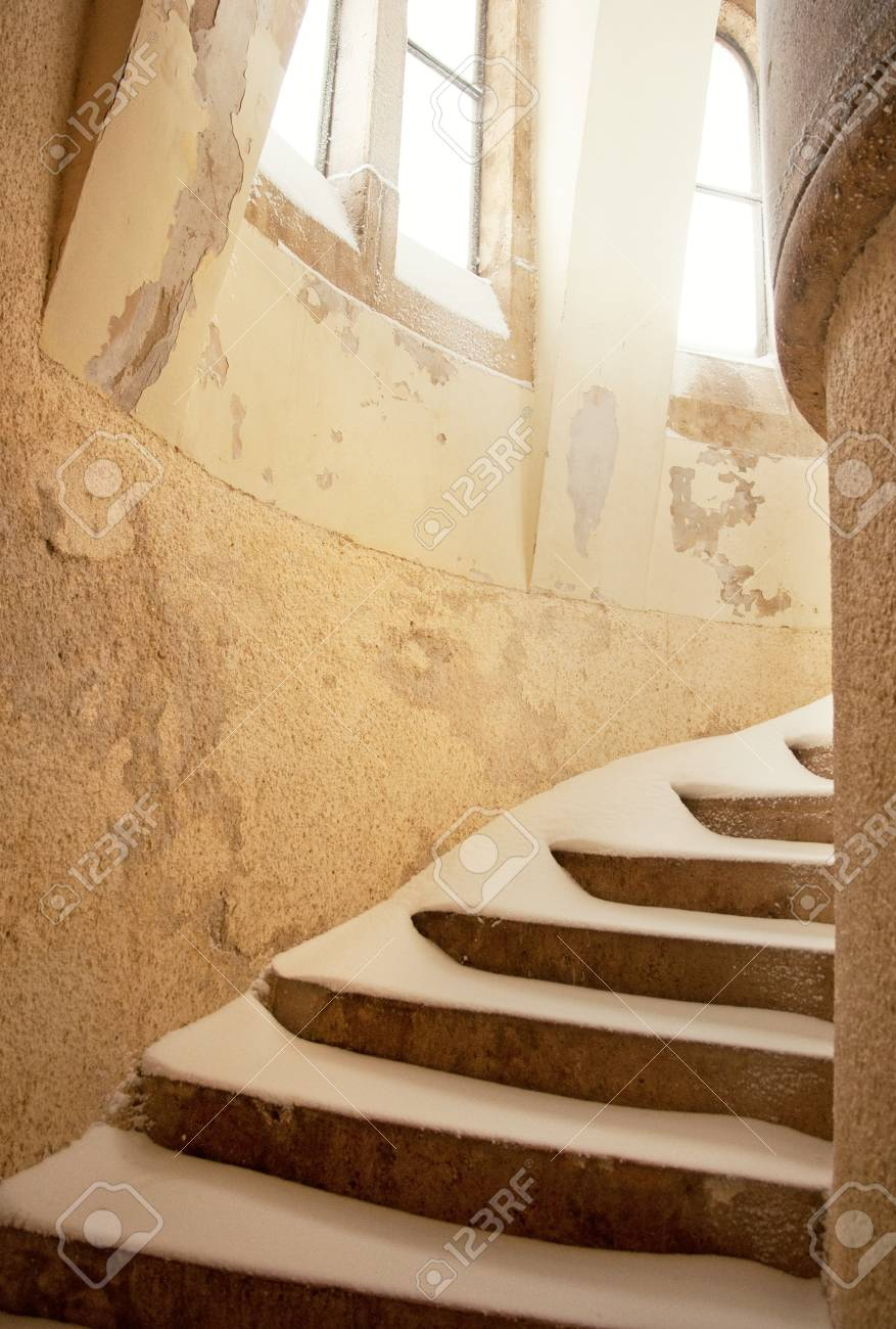 Stairs in winter with snow Stock Photo - 17134818