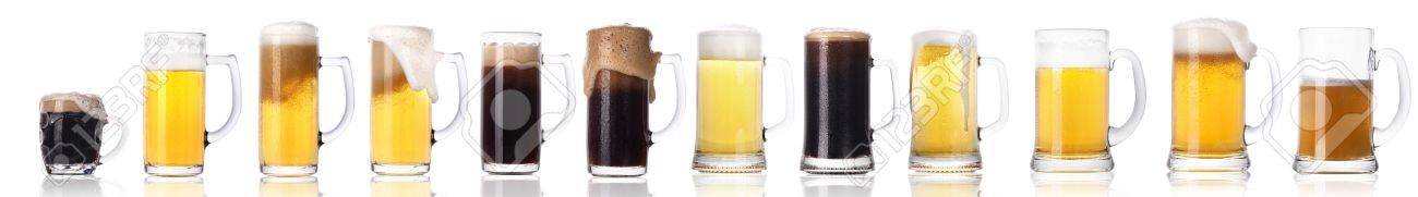 Frosty fresh beer set with foam isolated on a white background Stock Photo - 14972311