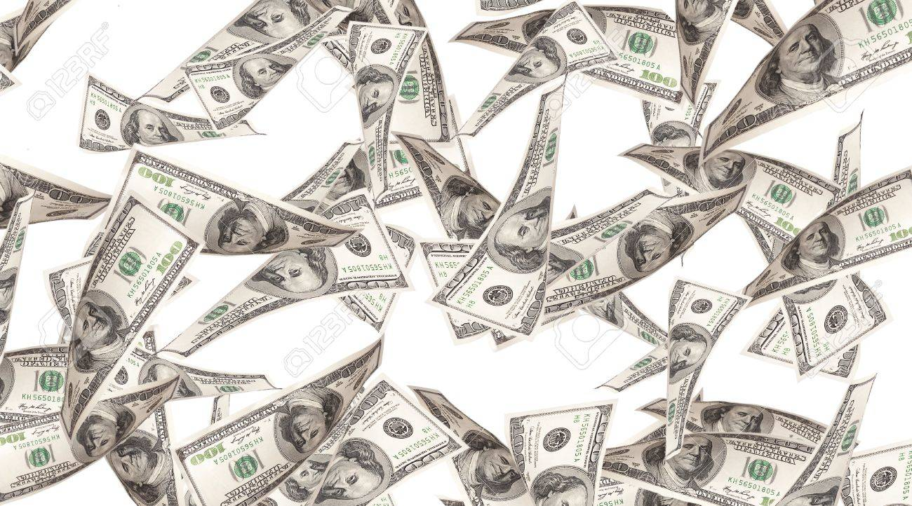 Flying Money American Dollars Background Stock Photo Picture And Royalty Free Image Image 16215226