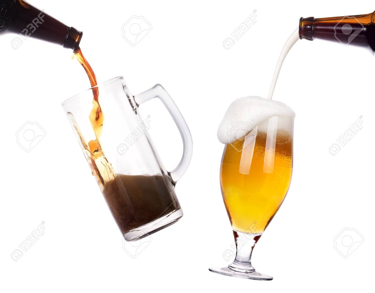Frosty glass of light beer isolated on a white background Stock Photo - 16613553