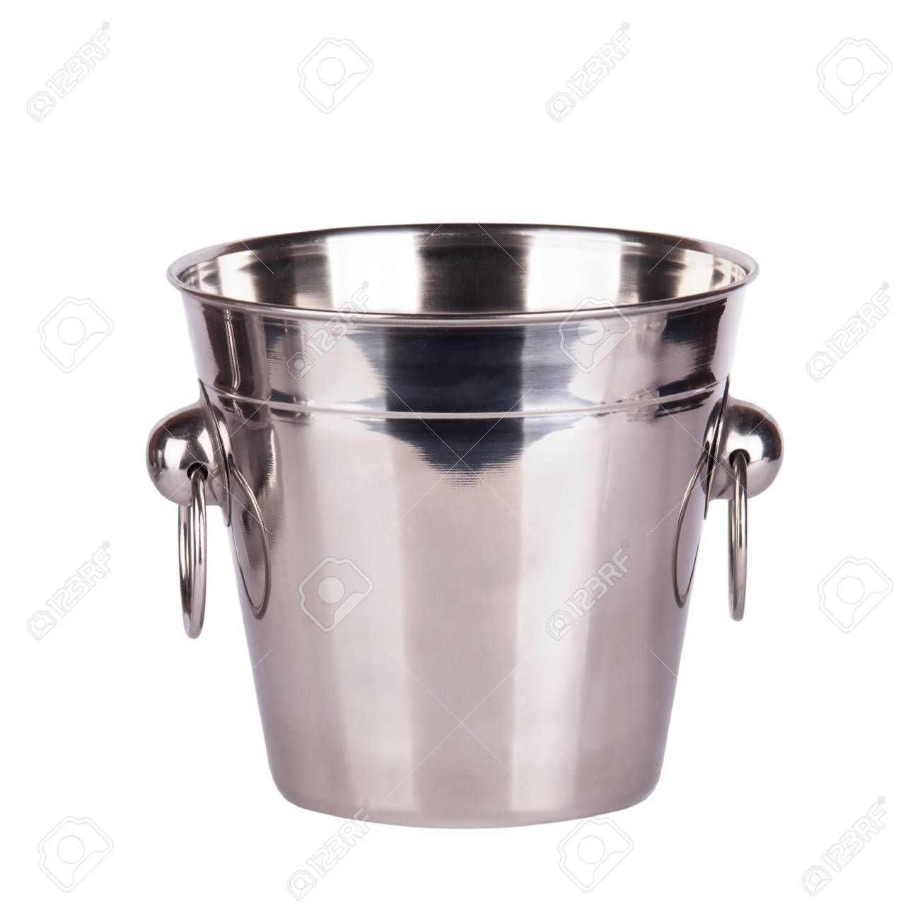 empty ice bucket isolated on a white background Stock Photo - 16810422