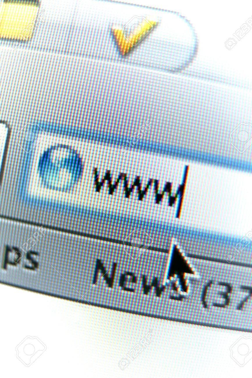 A close-up address bar shot on an LCD screen, visible pixels. Stock Photo - 4779853