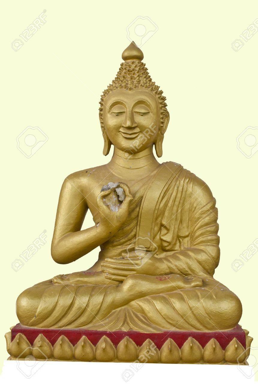 光と花の黄色の背景で仏の笑顔 の写真素材・画像素材 Image 11426155.