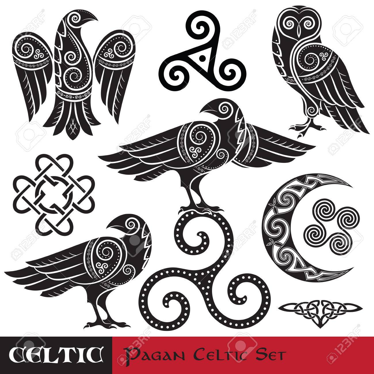 72 Celtic Owl Stock Vector Illustration And Royalty Free Celtic Owl ...