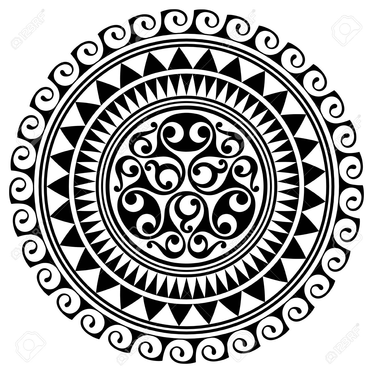 Polynesian Tattoo Design Ancient Polynesian Native Ornament
