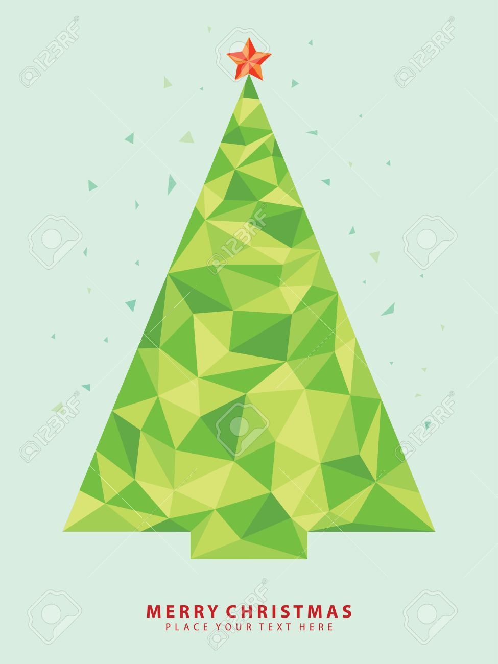 Abstract Christmas Tree From Crystal Graphic Royalty Free Cliparts
