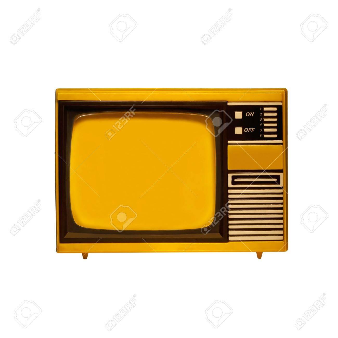 Alten Rahmen Fernseher Mit Weißem Hintergrund Isoliert Lizenzfreie ...