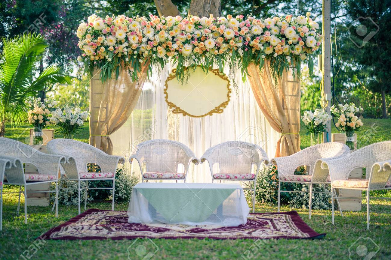 Wedding arch decorated with flowers vintage picture stock photo stock photo wedding arch decorated with flowers vintage picture junglespirit Images
