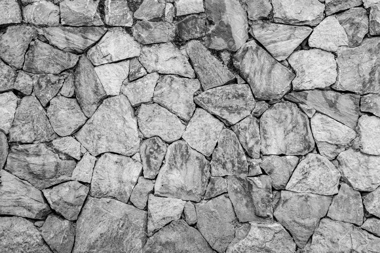 Schwarz Und Weiß Der Wand Stein Hintergrund Lizenzfreie Fotos