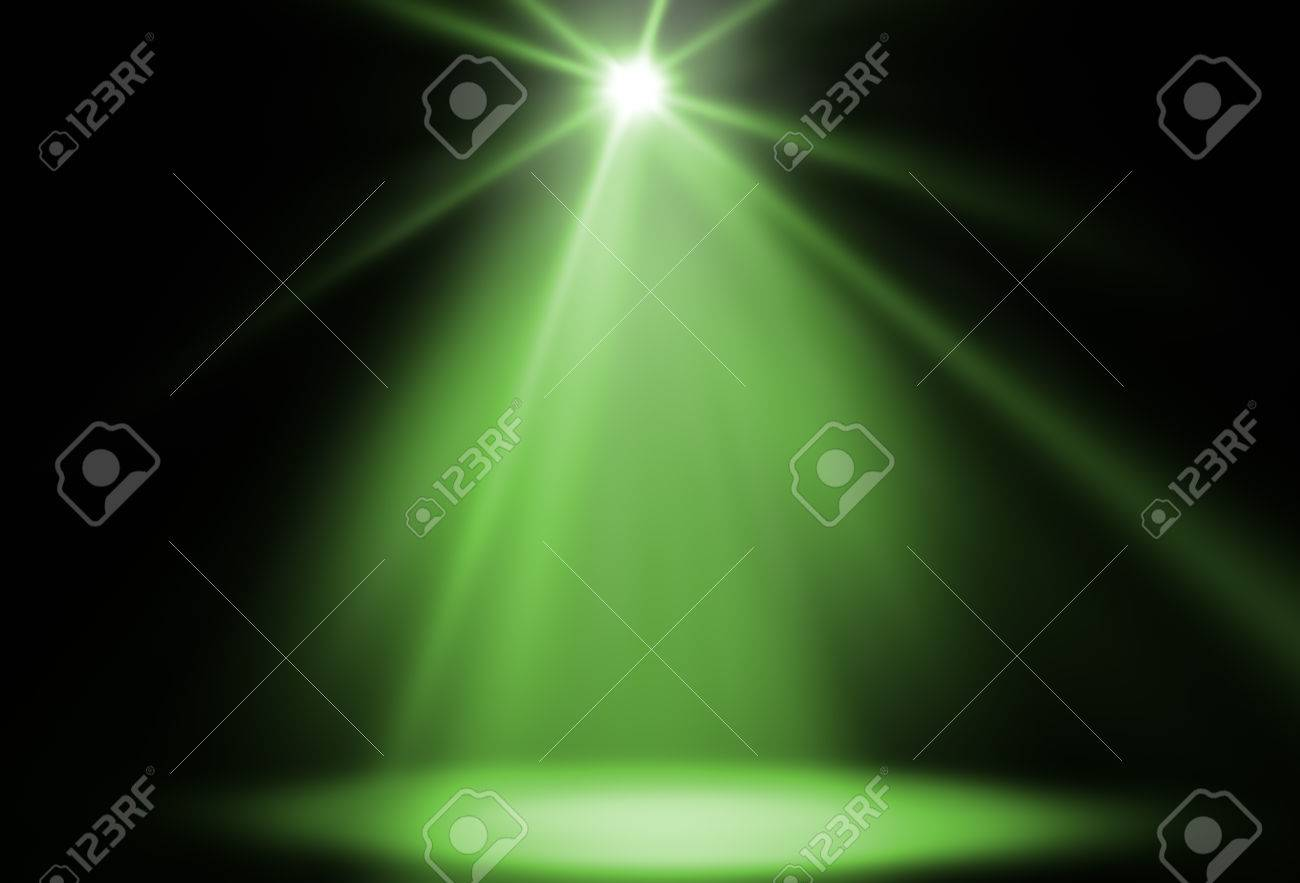 stage spot lighting background green Stock Photo - 34008358 & Stage Spot Lighting Background Green Stock Photo Picture And ...