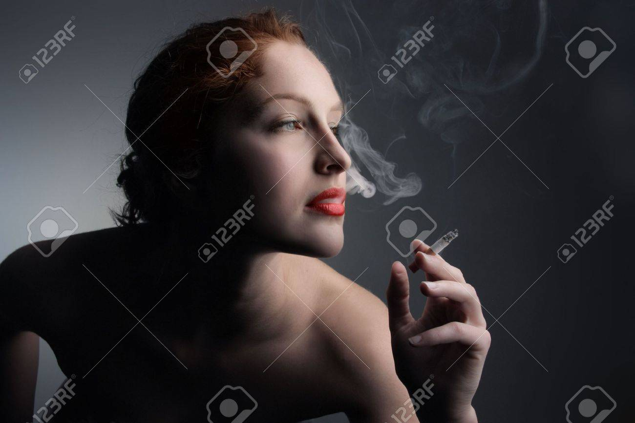 young woman smoking Stock Photo - 5619761
