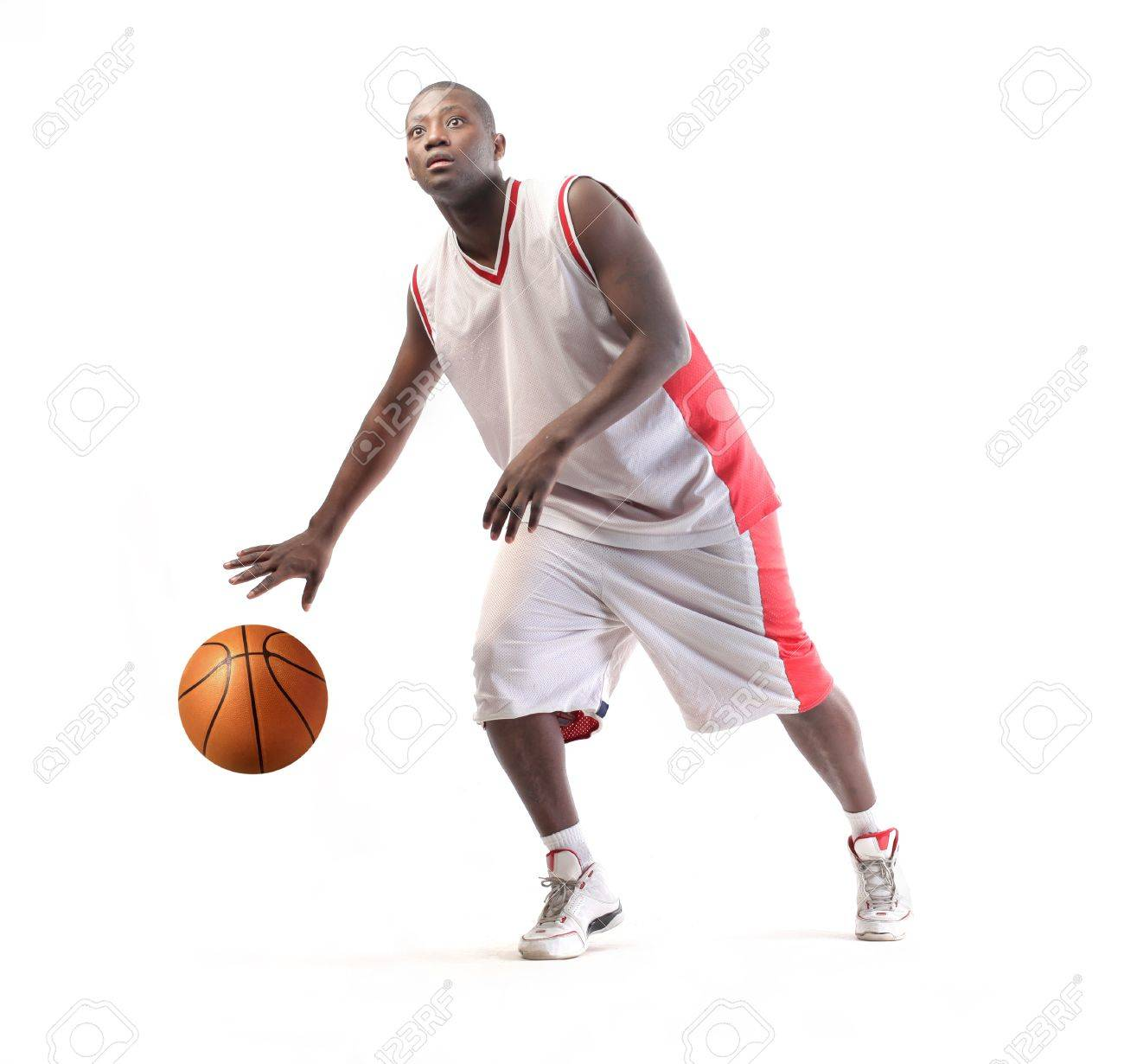 Young african basketball player in action Stock Photo - 8738368