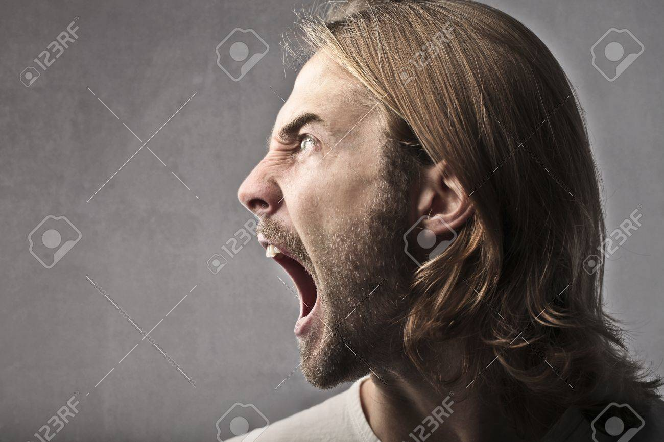 Angry young man shouting Stock Photo - 11125823