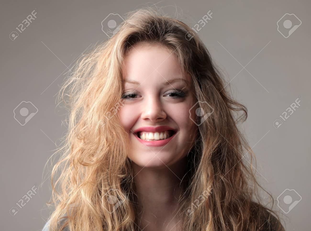 Happy beautiful woman smiling Stock Photo - 12199707