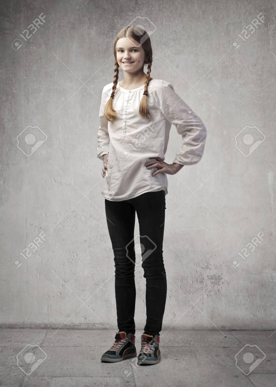 Smiling teenage girl Stock Photo - 12394067