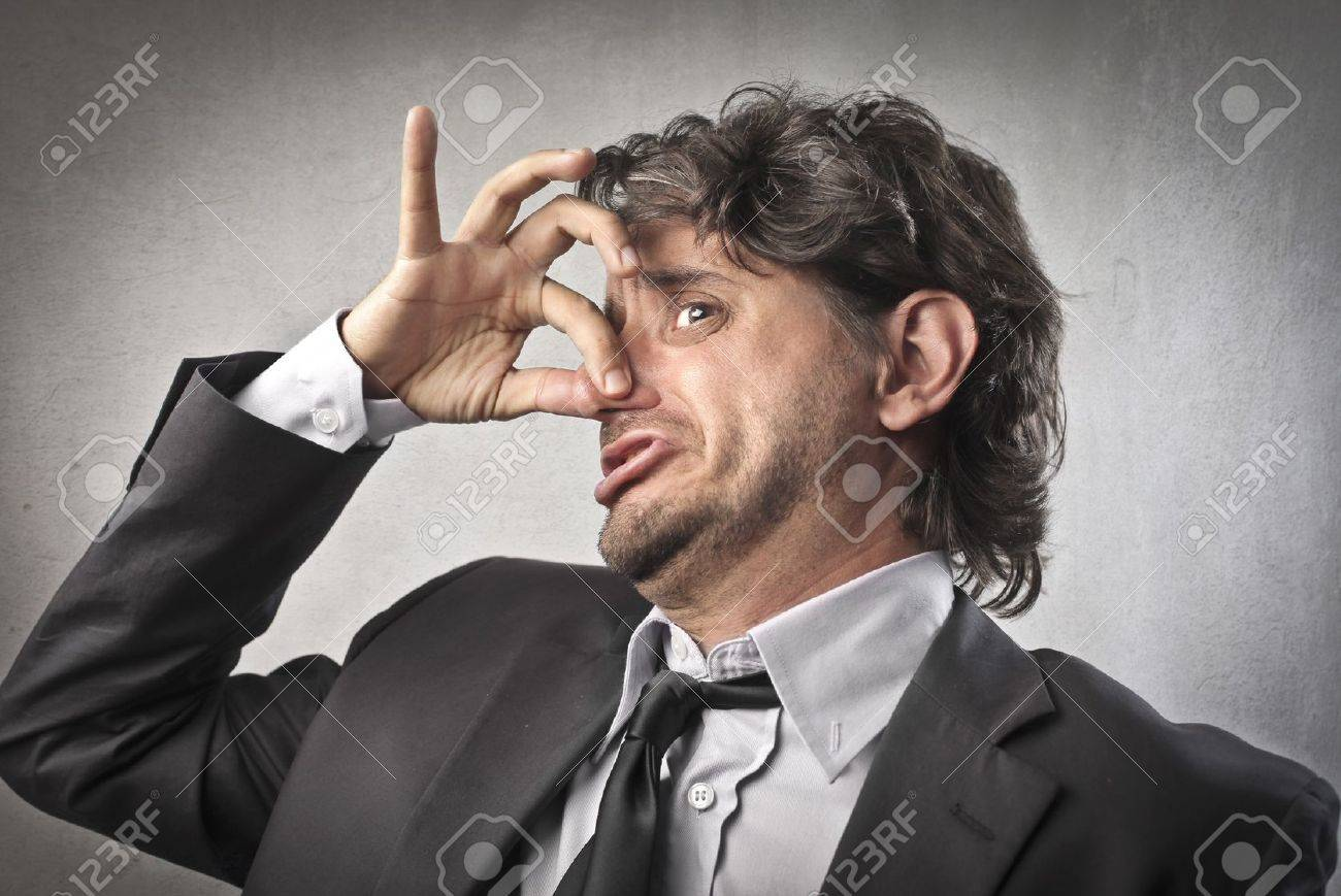 Businessman expressing his disgust Stock Photo - 14460900