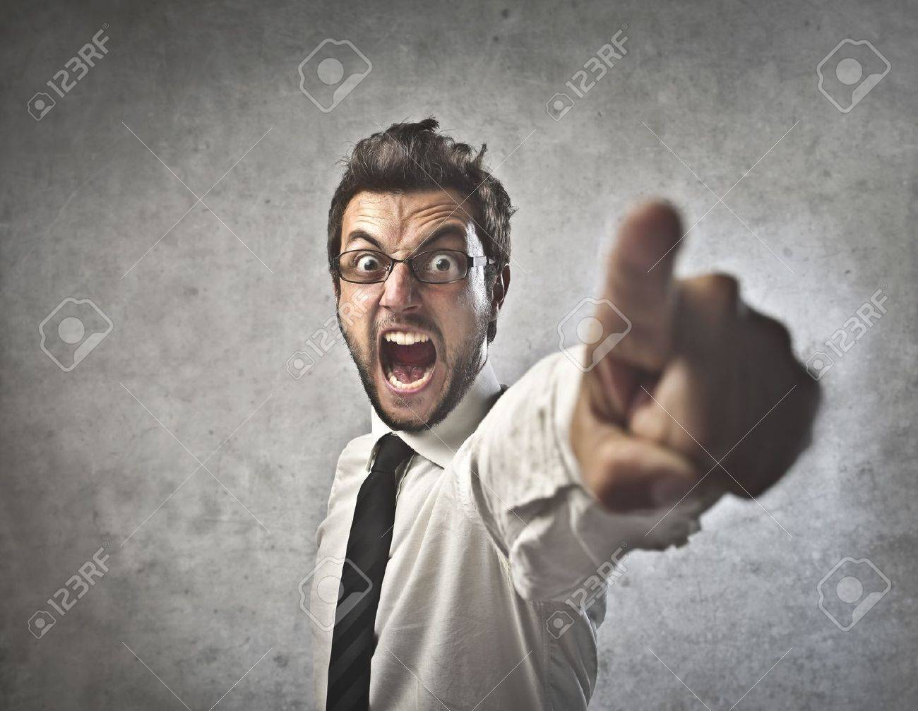 Businessman Angry Stock Photo - 14778287