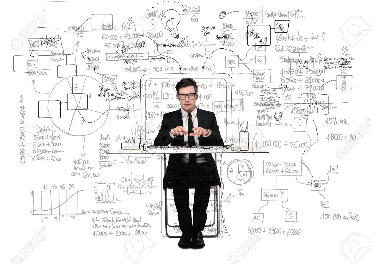 businessman working in his office Stock Photo - 17765975