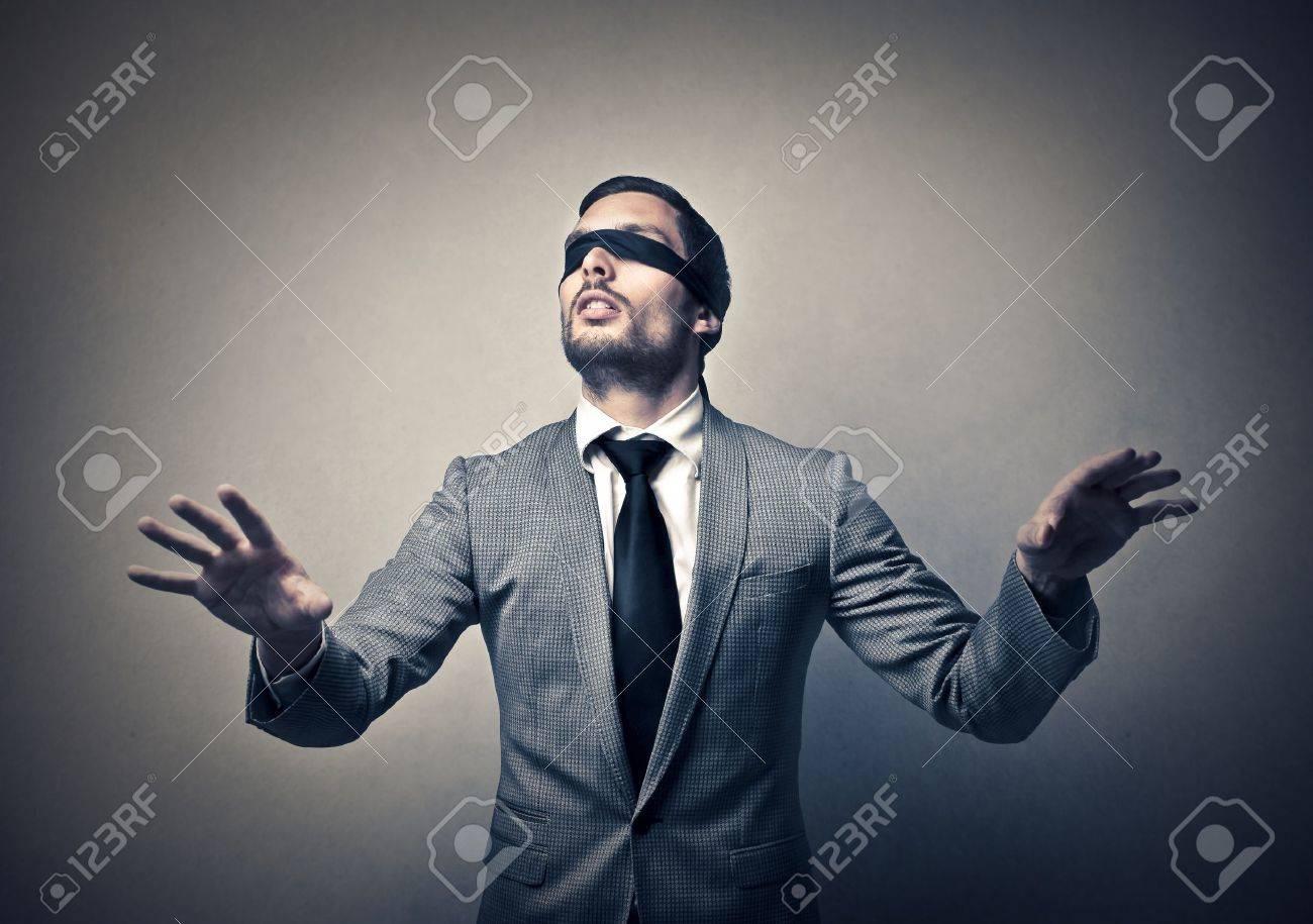 blind businessman Stock Photo - 19501809