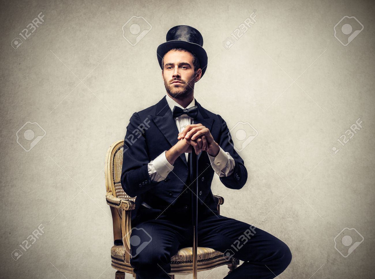 rich man sitting on a chair Stock Photo - 22756643