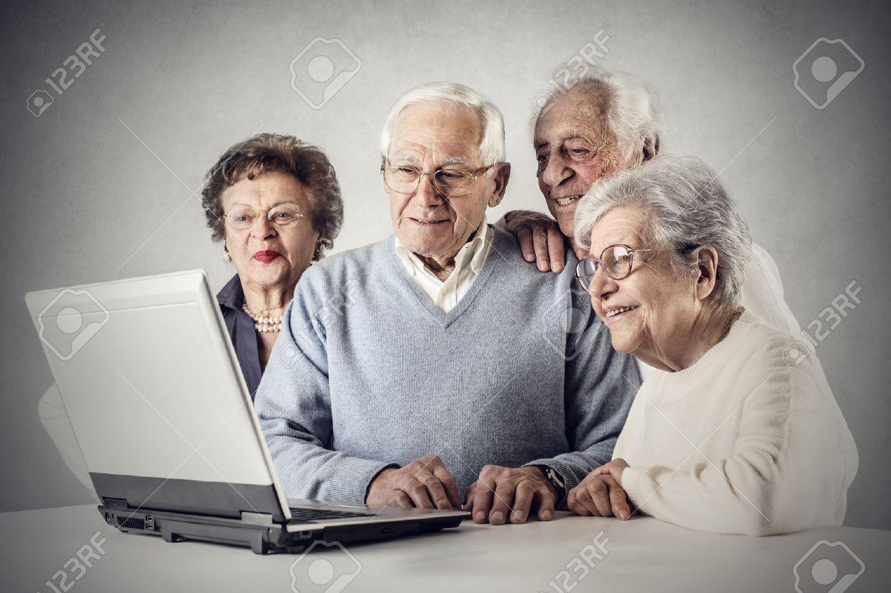 Elderly Using Technology People Using Technology