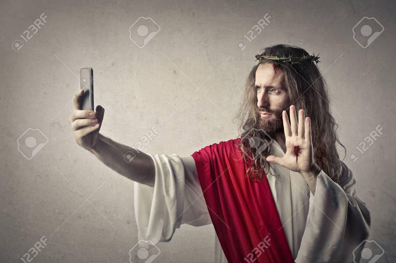Humour 47827444-j%C3%A9sus-fait-un-selfie