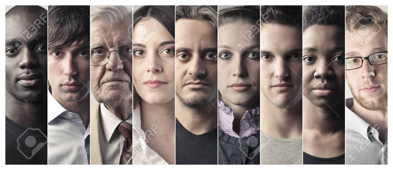 Serious people's faces - 50739180