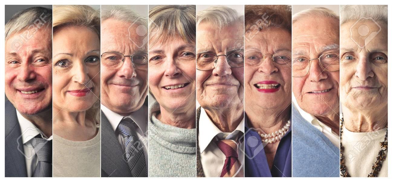 Elderly people's portraits Standard-Bild - 50740512