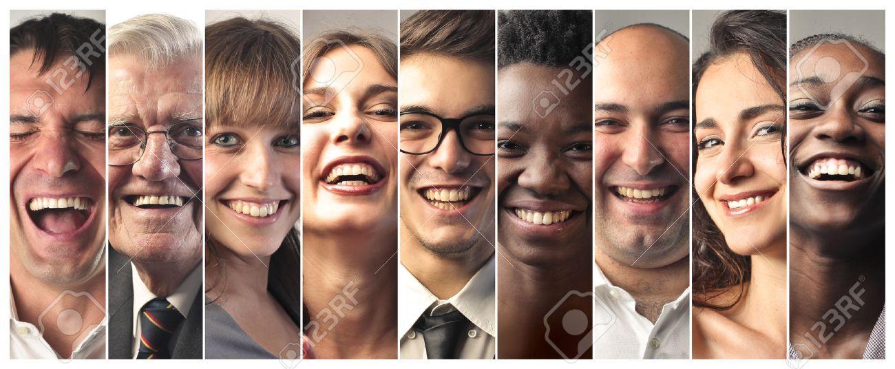 Happy people laughing Standard-Bild - 50743415