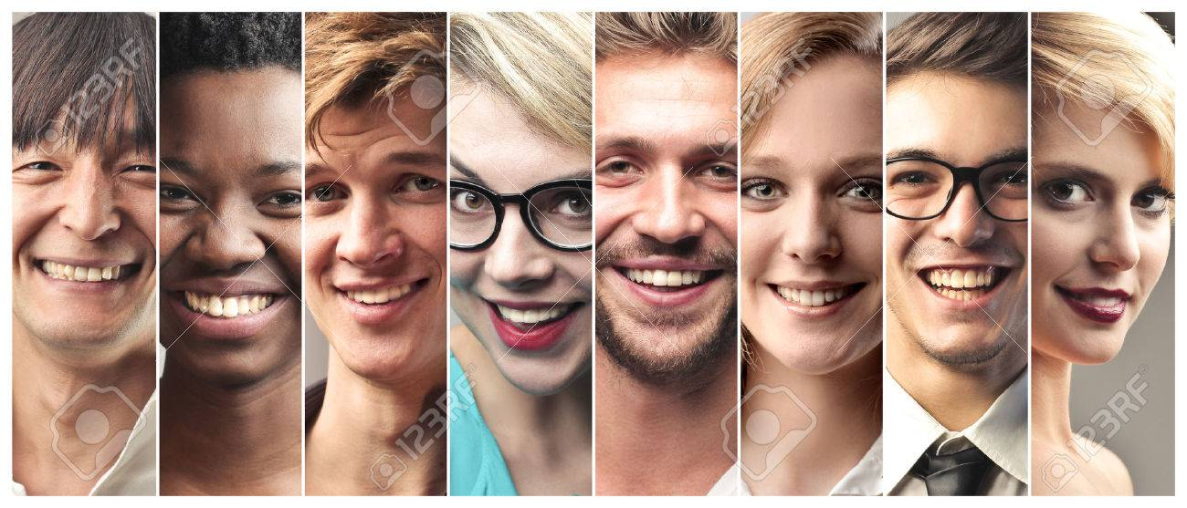 Smiling people of different countries Standard-Bild - 50743884