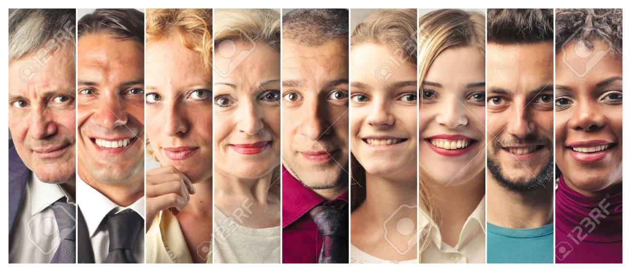 Smiling people's portraits - 50744460