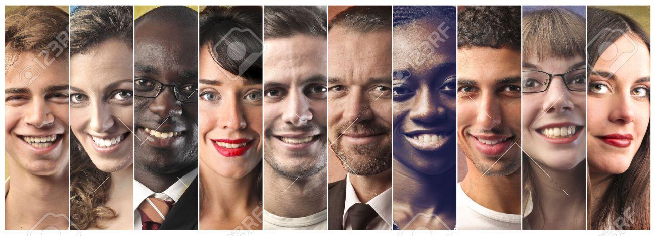 Multi ethnic people Standard-Bild - 50744464